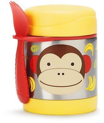 Skip Hop ZOO INSULATED FOOD JAR - MONKEY Toddler Feeding Storage BNIP