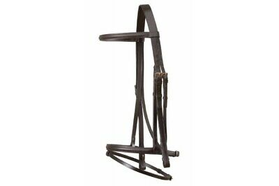 Jeffries Wembley Bridle - Complete With Flash & Reins - ENGLISH MADE
