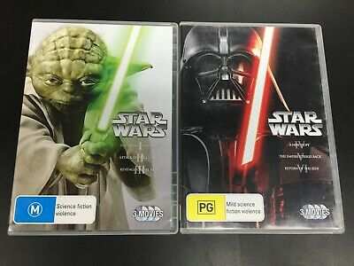 STAR WARS Prequel and Original Trilogy 1 2 3 4 5 & 6 - DVD Region 4 Sets - VGC