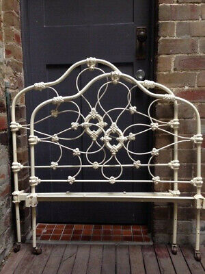Antique Bed Frame White Ornate