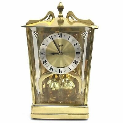 SCHATZ & SOHNE Vintage Battery Operated German Carriage Mantel Clock TH211316
