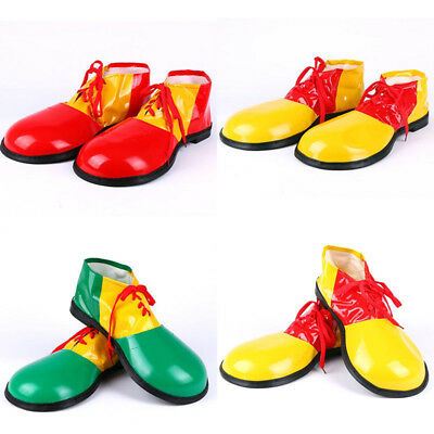 1 Pair Halloween Clown Shoes Comedy Funny Prank Props Cosplay Party Costumes