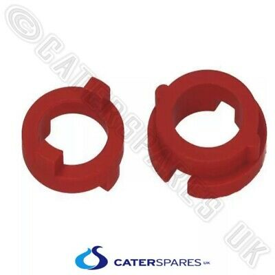 Pizza Group Dough Roller Twin Ring Coupling Set [Red] Nylon Boss Gear 4203250