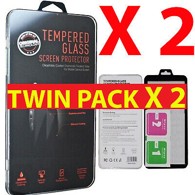 For New iPhone XR XS Max XS 10 TWIN PACK Screen Protector Gorilla Tempered Glass