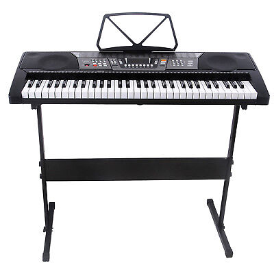 61 Key Music Electronic Keyboard Electric Digital Piano Organ Portable w/Stand