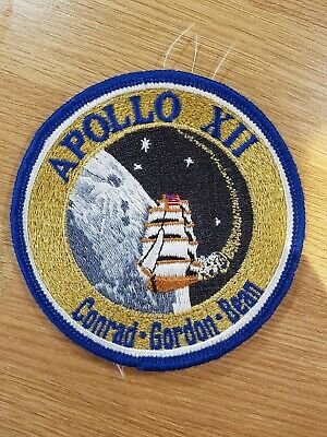 Apollo 12 Mission Embroidered Patch (Official Patch) 10cm Dia approx NASA Space