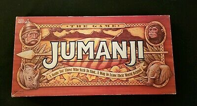 1995 Milton Bradley Jumanji Board Game Complete With Instructions