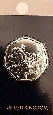New Uncirculated 2019 Paddington Bear At The Tower Of London 50P Coin *Bunc*