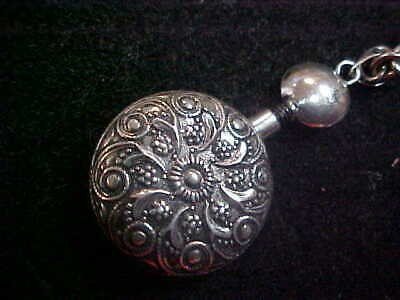 Vintage Sterling Silver Mexican Modernist Unique Perfume Bottle Necklace