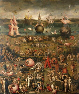 Hieronymus Bosch The Garden Of Earthly Delights Giclee Canvas Print Poster