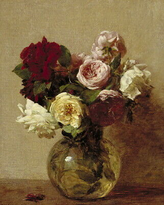 Henri Fantin Latour Roses 1 Giclee Canvas Print Paintings Poster Reproduction