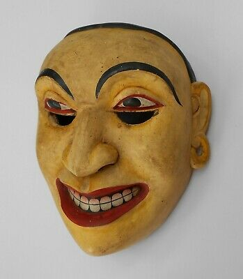 Antique wooden dancing performance drama mask > sab0045