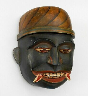 Antique small wall hanging Ancient mask collectible > sab0045