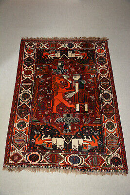 Teppich ANTIK 180 x 123 antique rug Löwe König lion king