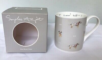SOPHIE ALLPORT Fine Bone China TERRIER DOG Mug New & Boxed Gift 'I Said Sit!'