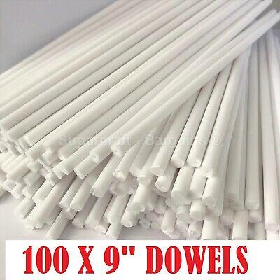"100 x 9"" Long CAKE DOWELLING Rods Support Tiered Cakes Sugarcraft DOWELS DOWELS"