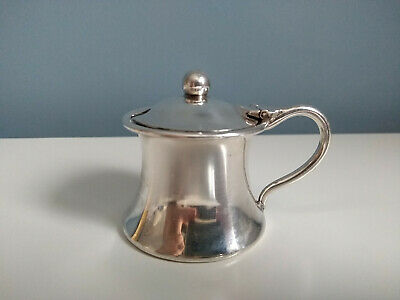 Silver Plated Mustard Pot Stamped Copper from HMS Glasgow