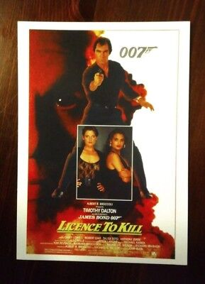 James Bond Movie Cartolina Postcard - Timothy Dalton as 007, Licenze To Kill