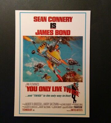 James Bond Movie Cartolina Postcard - Sean Connery as 007, You only live twice