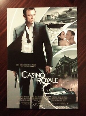 James Bond Movie Cartolina Postcard - Daniel Craig as 007, Casino Royale