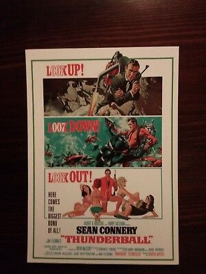 James Bond Movie Cartolina Postcard - Sean Connery as 007, Thunderball