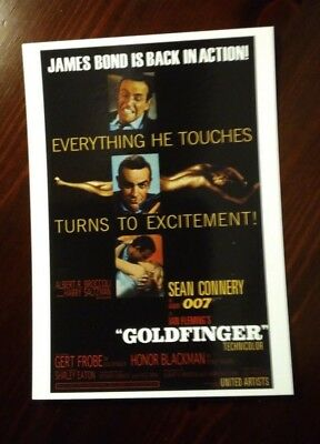 James Bond Movie Cartolina Postcard - Sean Connery as 007, Goldfinger