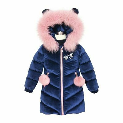 Children's Clothing Winter Jacket For Girls Thicken Coat Hooded Velour Outwear G
