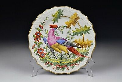 Chelsea Hand Painted Porcelain Bird Plate 19th Century #1