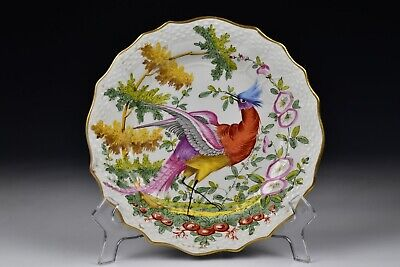 Chelsea Hand Painted  Porcelain Bird Plate 19th Century #6