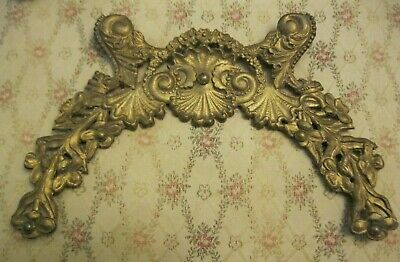 Antique Art Nouveau Architectural Salvage Victorian Pediment Picture Frame