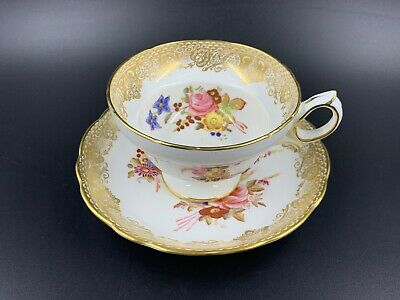 Hammersley 265 Dresden Sprays Type Tea Cup Saucer Set Bone China England