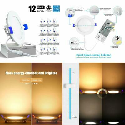9w 4 Ultra Thin Recessed Ceiling Light W Junction Box Slim Led
