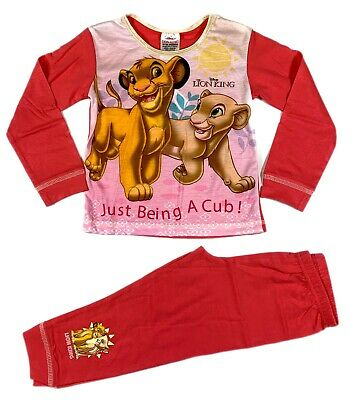 Official Girls Toddler Disney Lion King Pyjamas Pajamas Nightwear 2 3 4 5
