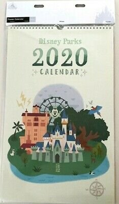 Walt Disney World Parks Disneyland Park Lands Map 2020 Art Poster Calendar NEW