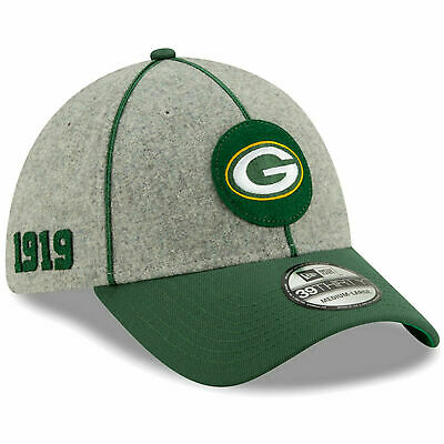 New Era 2019 Men's Green Bay Packers Sideline Home On Field 39Thirty Hat NFL