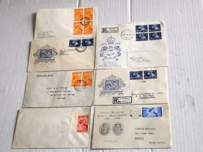 BR COMWEALTH-1948 SILV WEDDING x7 COVERS-GD RANGE-4 ILLUST COVERS INCLUDING GB
