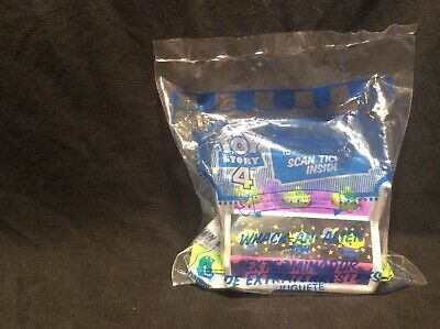 2019 McDonalds TOY STORY 4 Happy Meal Toy WHACK-AN-ALIEN #2 Green Tickets