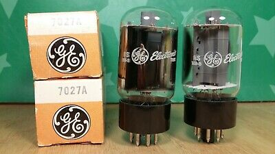 Matched Pair of GE 7027A NOS-testing Vacuum Tubes - Same Dates / READ