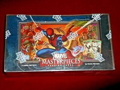 Marvel Masterpieces Series 3 - Sealed Trading Card Hobby Box - Upper Deck 2008