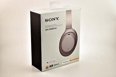 Sony WH1000XM3 Bluetooth Noise-Canceling Over-Ear Headphones Silver Voice Assist