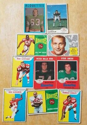 CFL 10 Card Lot Montreal Alouettes George Dixon Harold Cooley Ed Learn