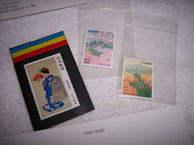 3 Fine Japanese Stamps & Pack Of Mount Fuji Photographic Postcards - Nos; Unused