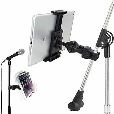 IPad Universal Tablet Mount Clamp To Mic Mike Music Stand Microphone Holder Yoke