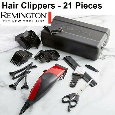 Remington Electric Hair Clippers Haircut Grooming Mens Boys Corded Trimmer Set