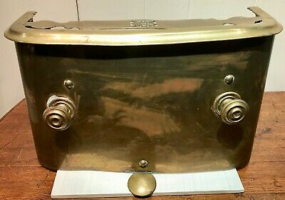 "Vintage Ornate Solid Brass Heat Register Wall Heater Cover Antique 18"" W 10"" T"