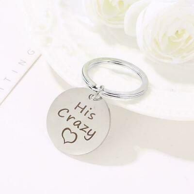 Personalized Stainless Steel Key Chain His Crazy Her For Couples Gift Weird P0K2