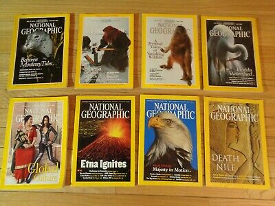 8 National Geographic Magazines, 1990 - 2003