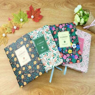 Floral Flower Schedule Book Diary Note Memo Cute Planner Nice Office School H9I1