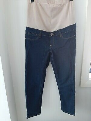 Jeanswest Maternity Skinny Slim Capri Crop Leg Dark Blue Denim  Jeans Size AU 6