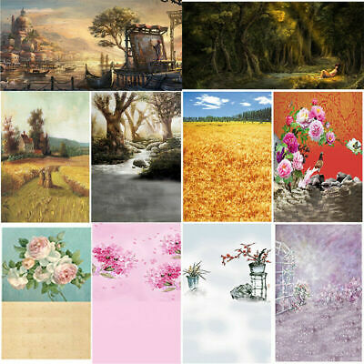 Castle Flower Canvas Home Wall Decor Art Oil Painting Picture Print Unframed